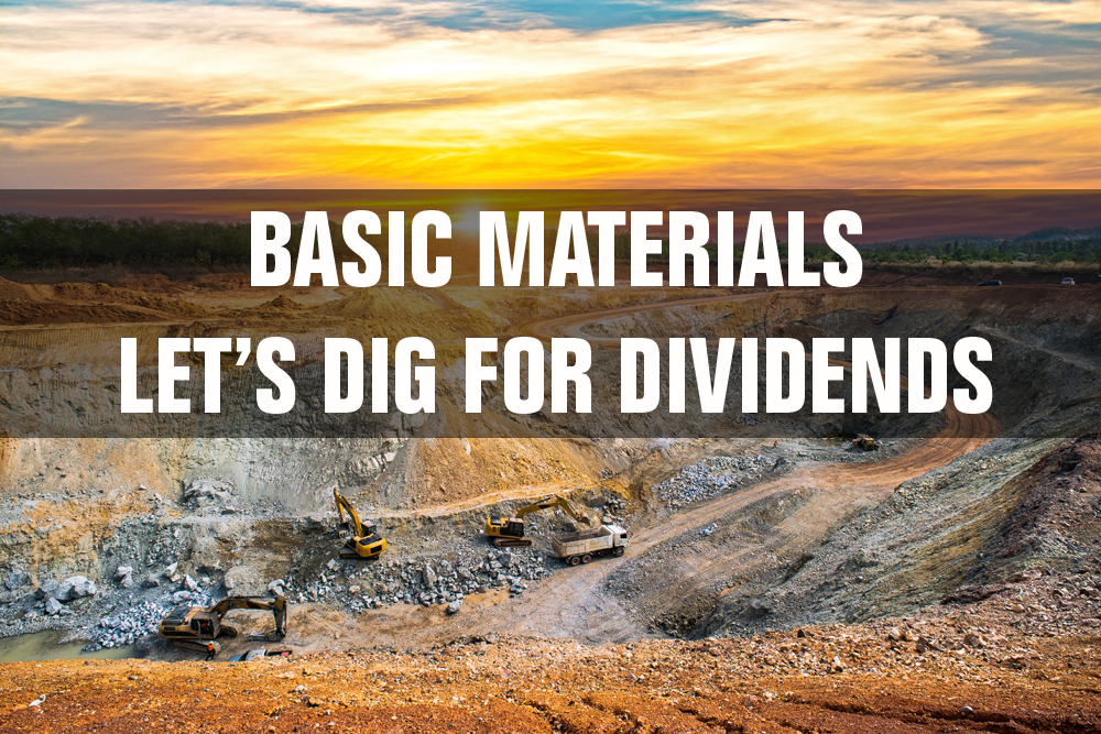basic materials dividend stocks list