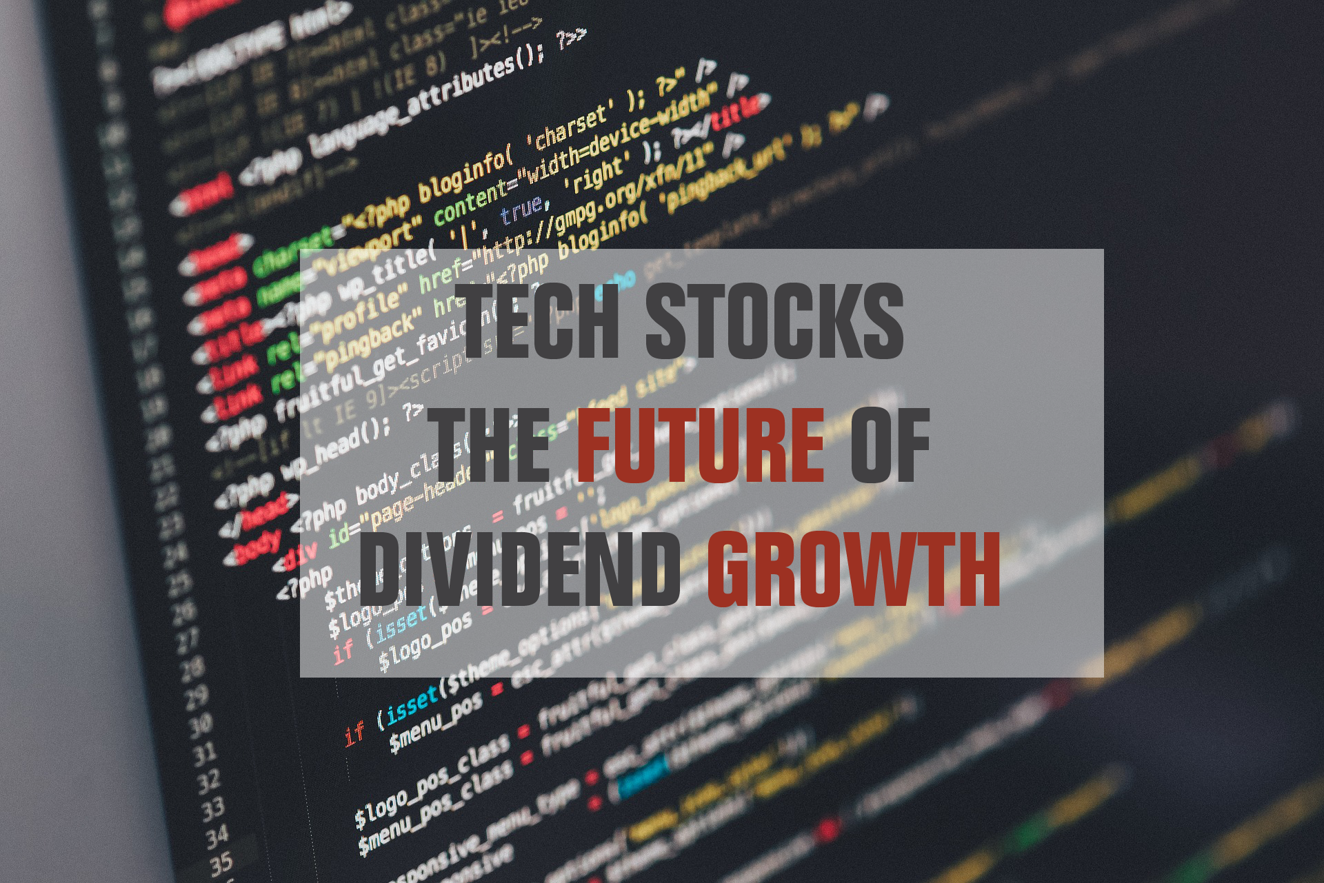 Tech dividend stocks list